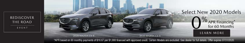 Select new 2020 models 0% APR Financing for 60 Months | Learn More