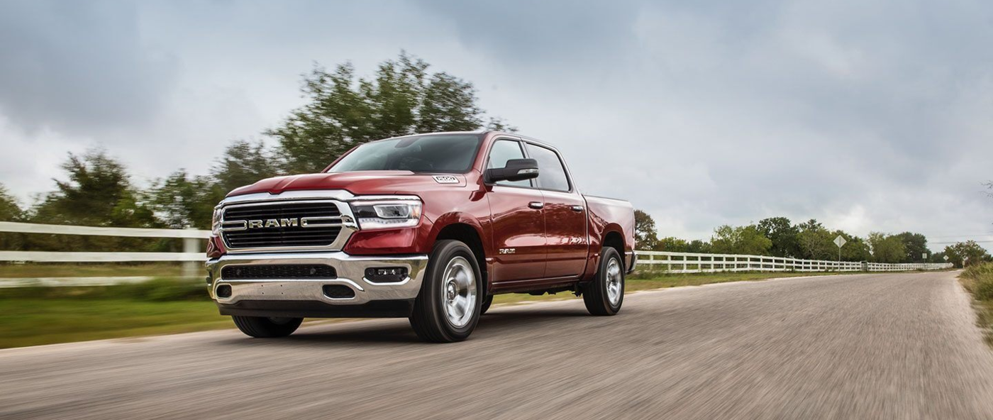 Red RAM 1500 Driving