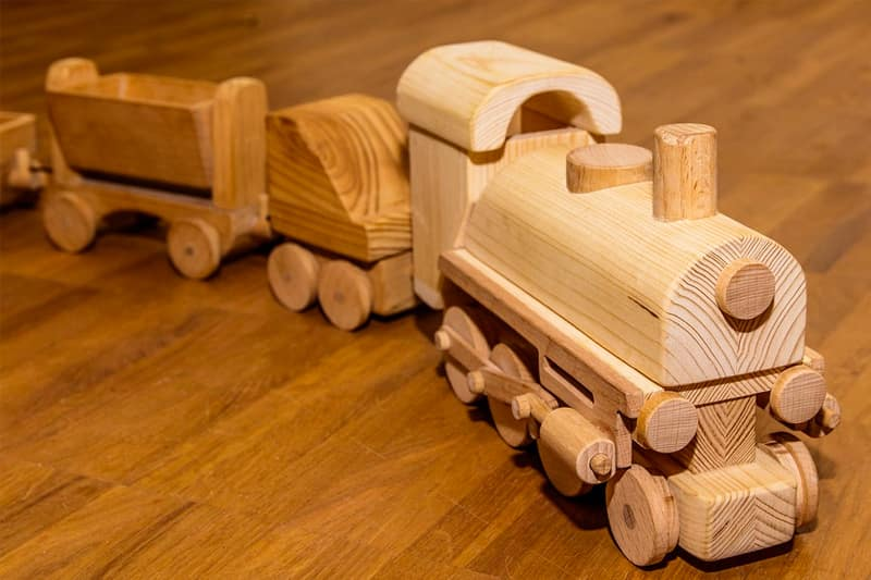 toys for tots wooden train
