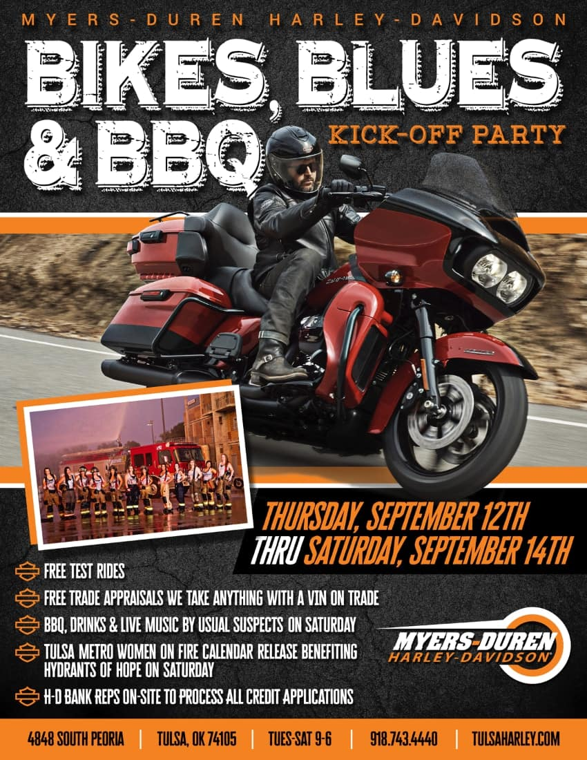 Bikes, Blues & BBQ Kick-Off Party at Myers-Duren Harley-Davidson