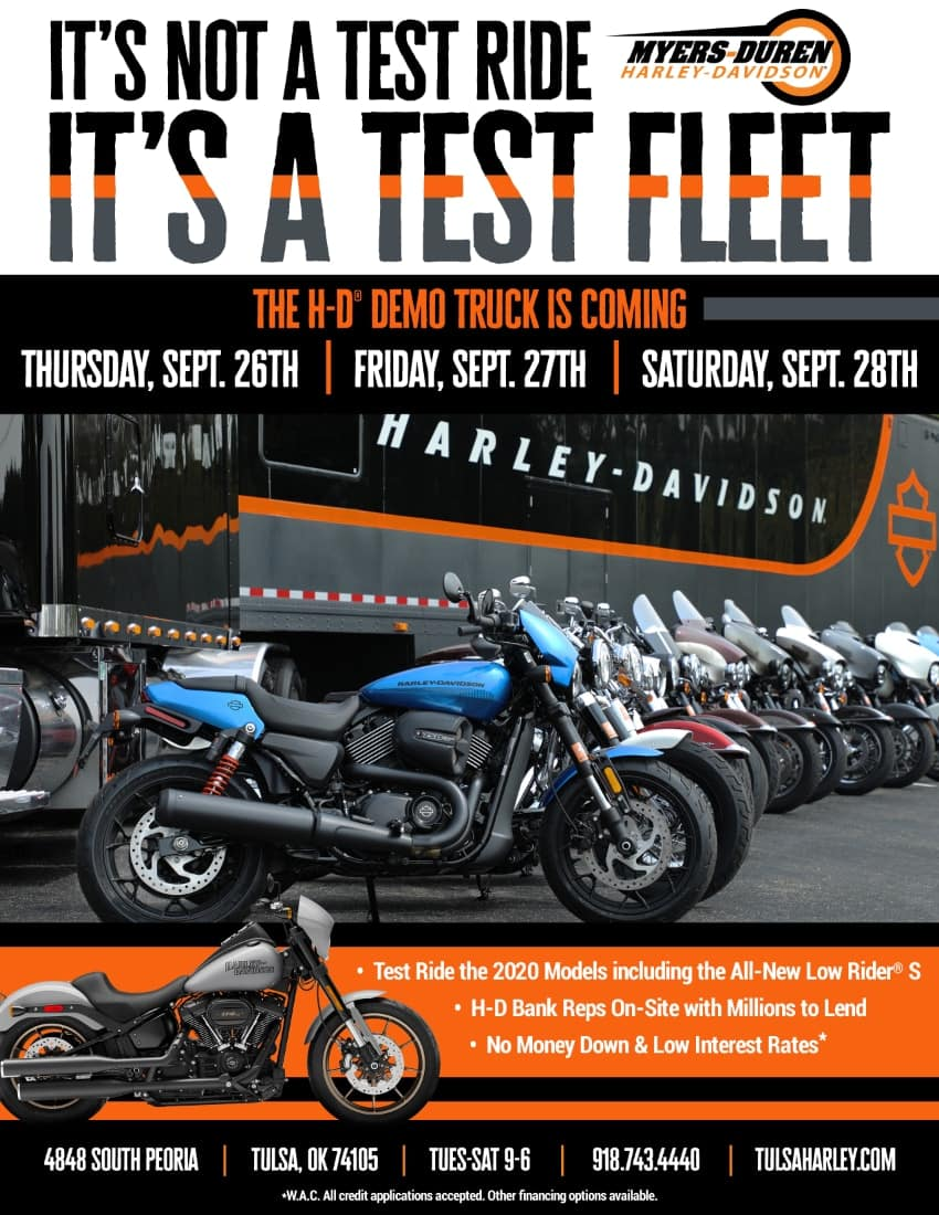 H-D Demo Truck at Myers-Duren Harley-Davidson