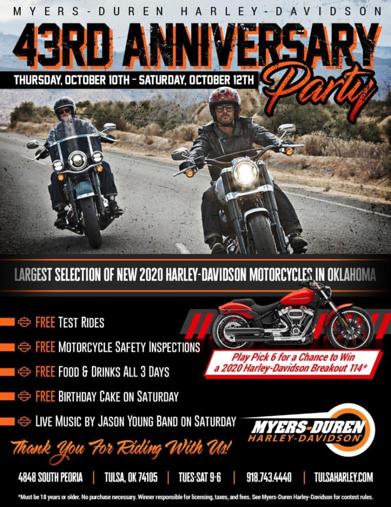 43rd Anniversary Party at Myers-Duren Harley-Davidson