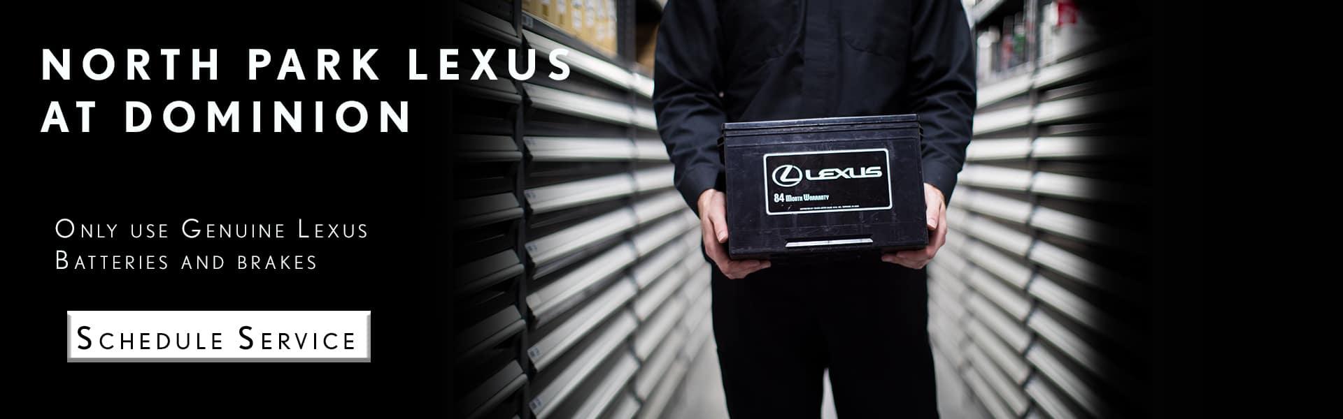 Battery & Brakes- Lexus