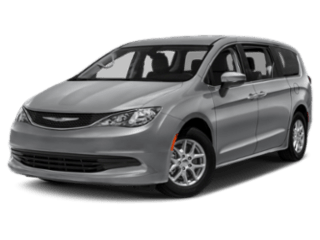 Silver Chrysler Pacifica - angled to the left
