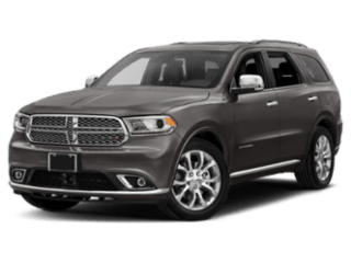 charcoal grey dodge durango - angled to the left