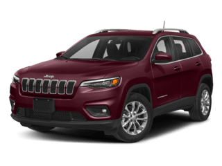 maroon jeep cherokee - angled to the left