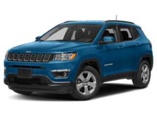turquoise jeep compass - angled to the left
