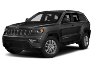 dark grey jeep grand cherokee - angled to the left