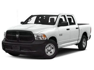 white ram 1500 classic - angled to the left