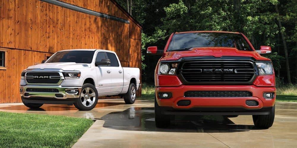 2020 Ram 1500 Models Parked Outside