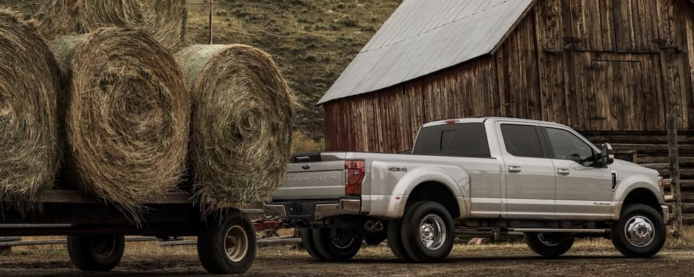 2020 Ford F-250 Towing Hay