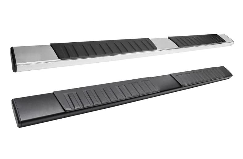 Westin R7 Running Board Black and Stainless Steel