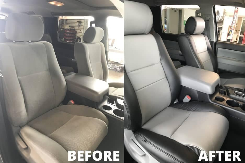 Leather Seats Before & After