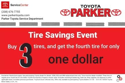 Tire Sale - Parker Toyota