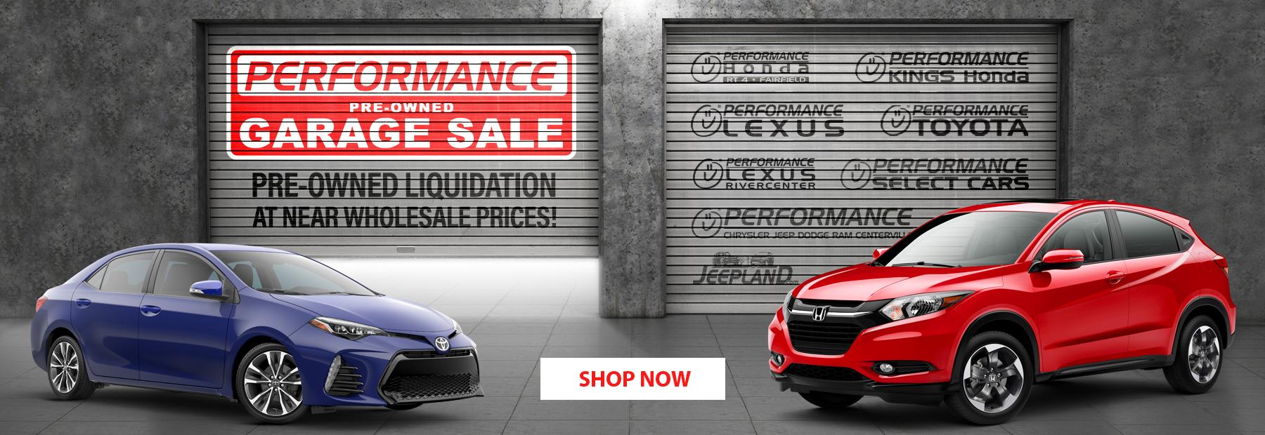 Performance Used Car Garage Sale