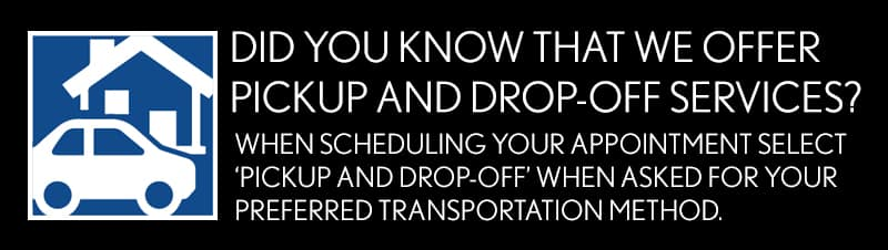 Schedule Pickup and Drop-off Services