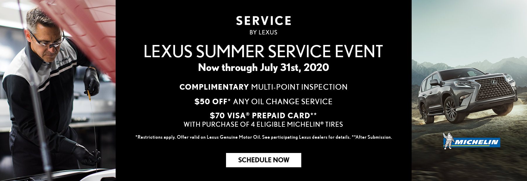 Lexus summer service event. Ends July 31st.