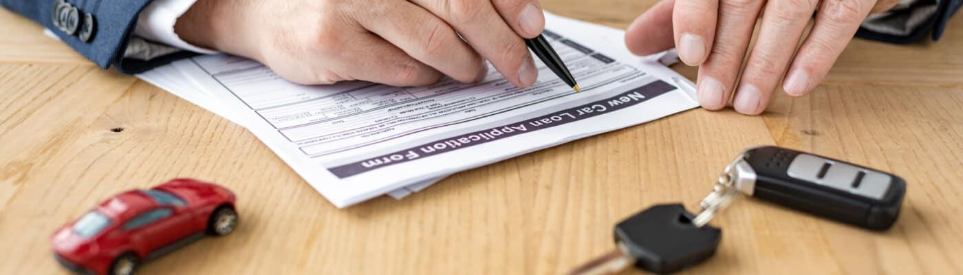 Looking over paperwork
