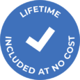 Warranty icon - a blue circle with a checkmark inside
