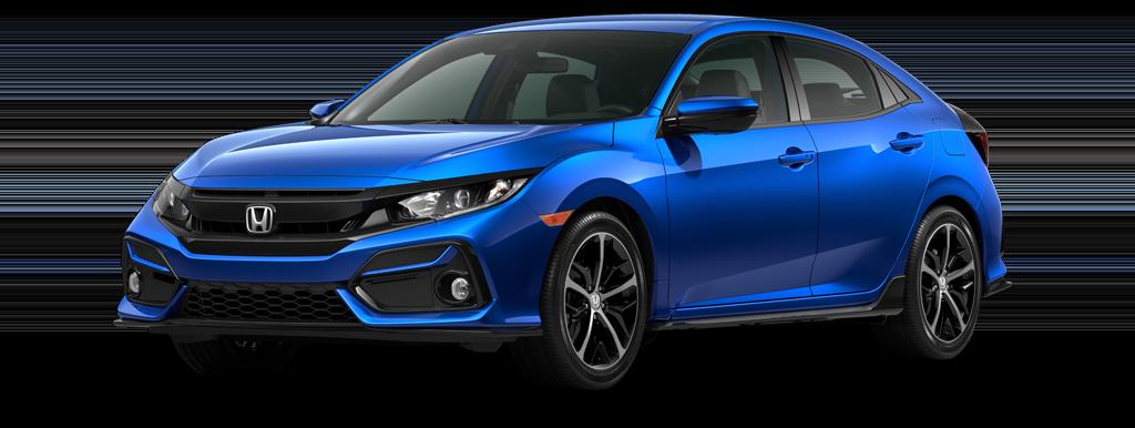 2021 Honda Civic Sport Hatchback Aegean Blue Metallic