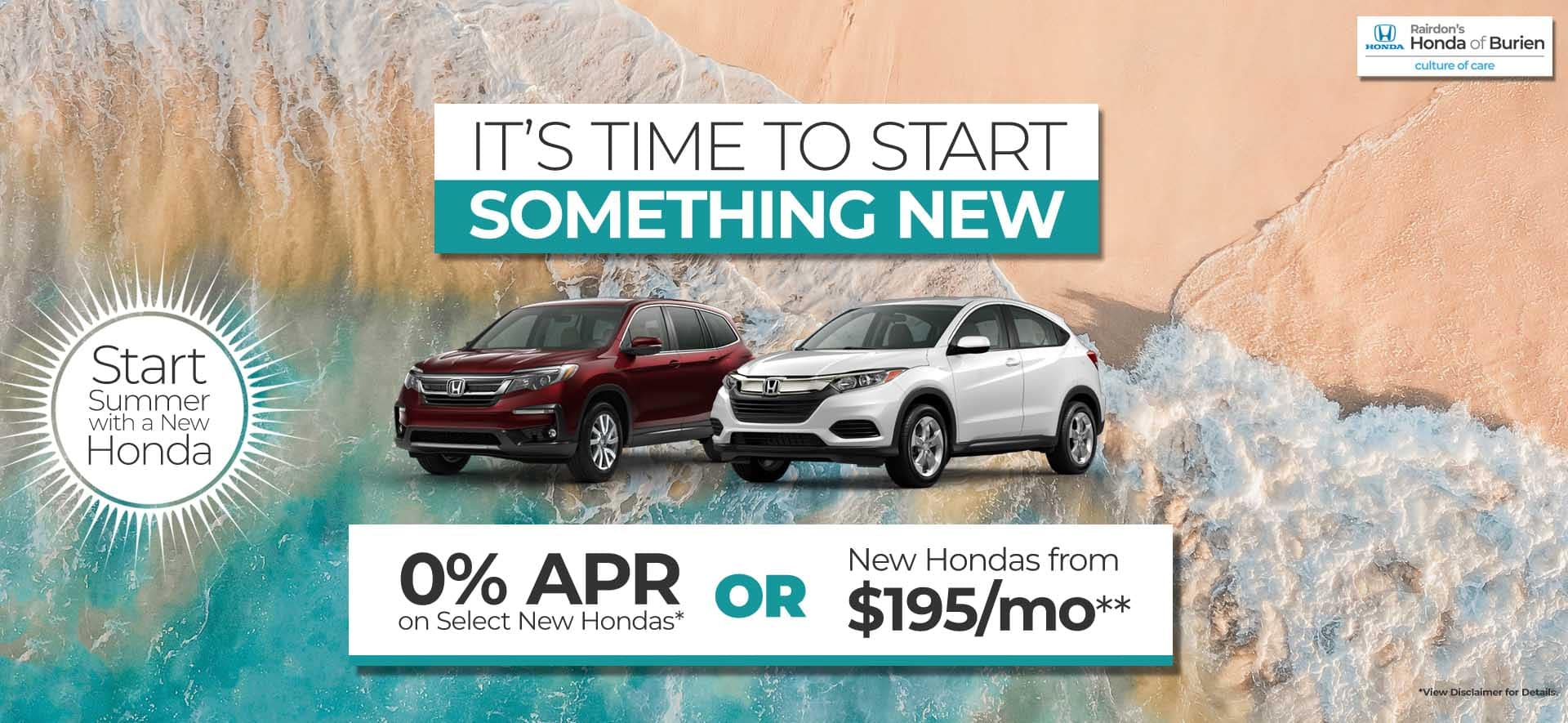 Time to Start Something New 0% APR*