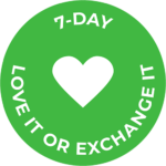 Trial purchase icon - a green circle with a heart inside