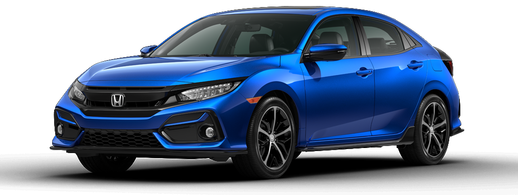 2021 Honda Civic Sport Touring Hatchback Aegean Blue Metallic Marysville