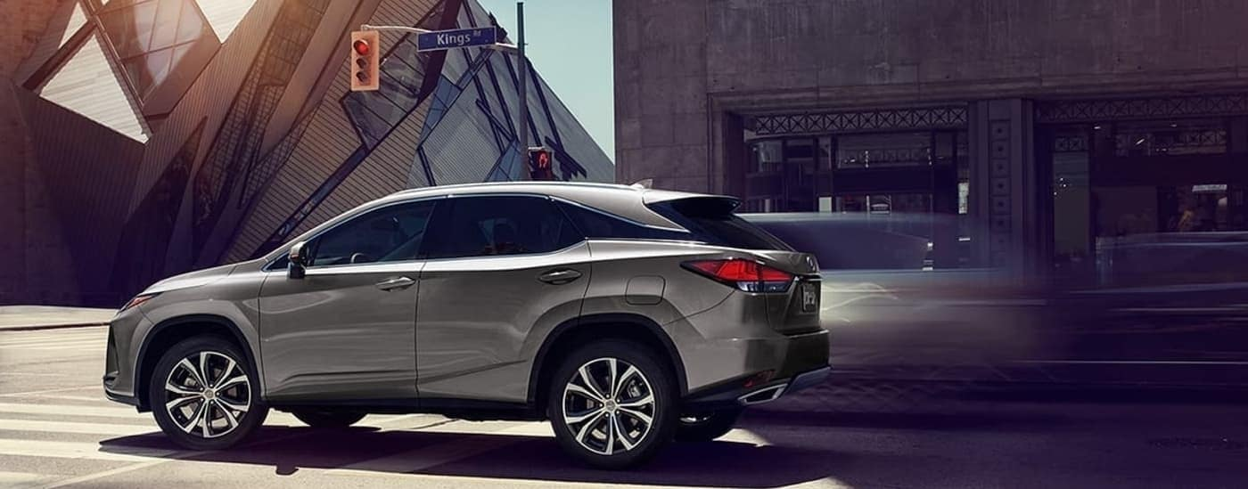 2020 Lexus RX driving on road