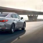 Lexus ES on highway