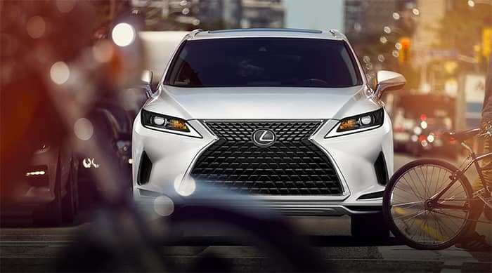 Front end view of Lexus RX