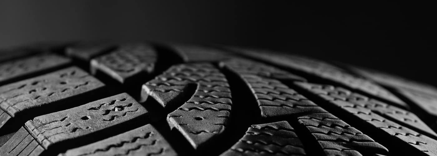 Close up of tire tread