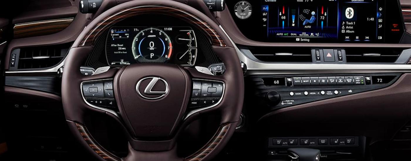 Lexus dashboard and steering wheel