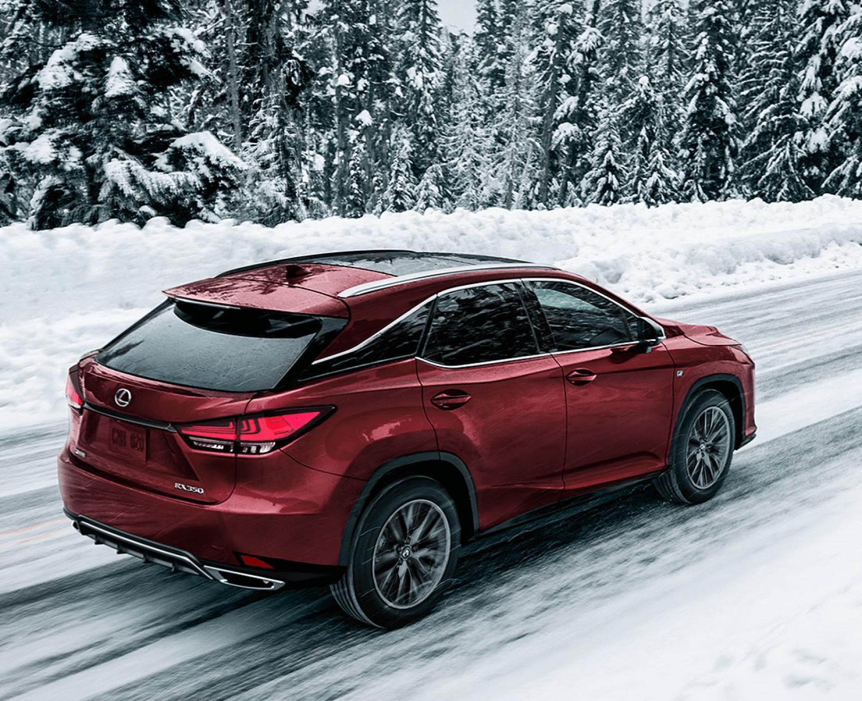 2021 Lexus RX Red Winter Snow Lexus of Larchmont