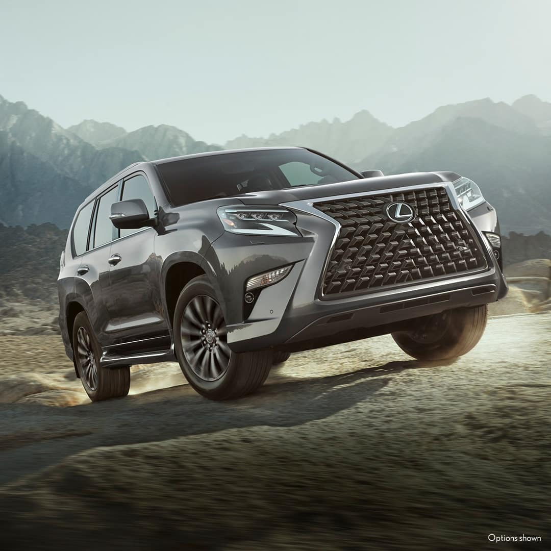 2021 Lexus GX gray out on the trail