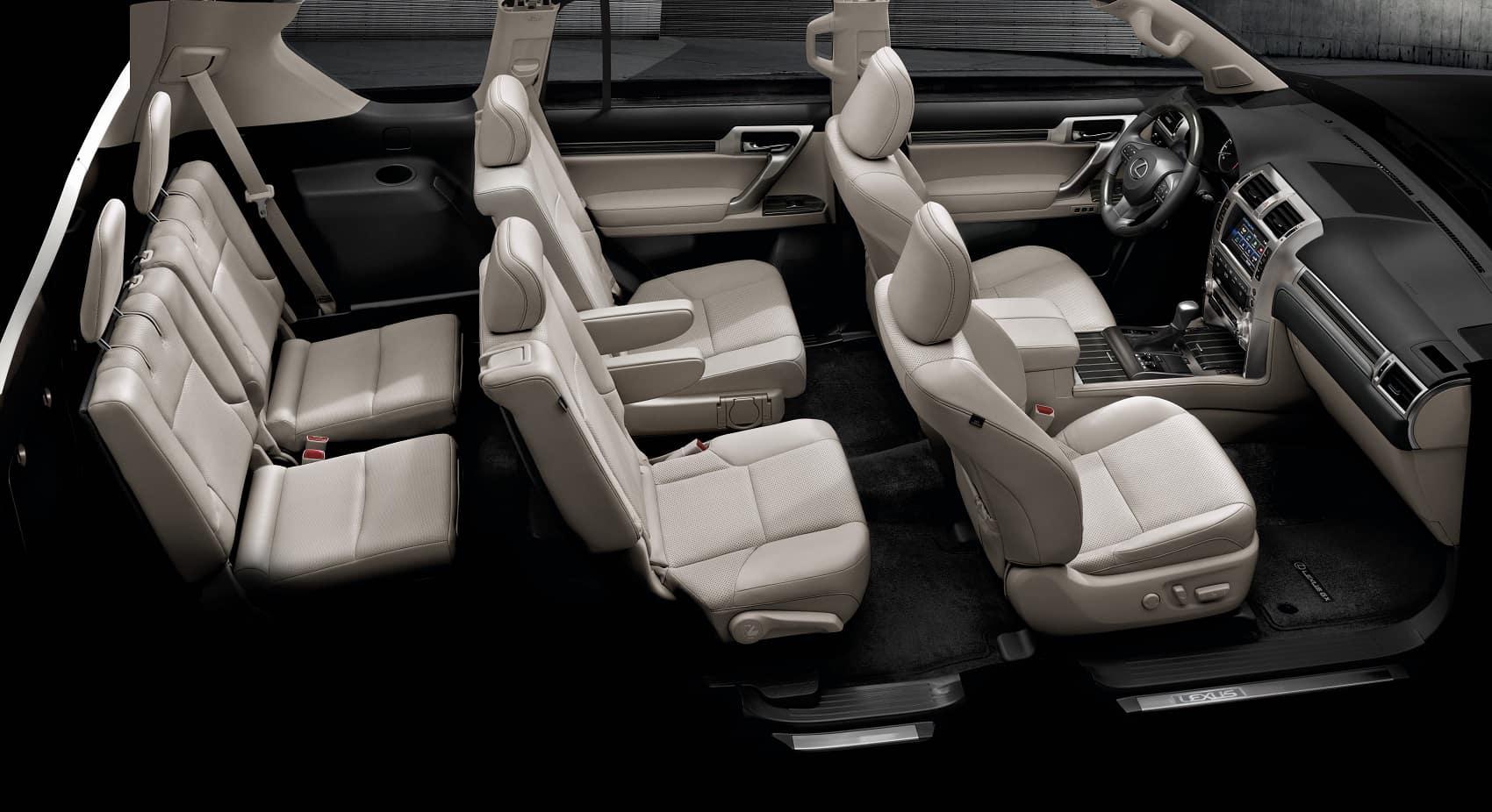 2021 Lexus GX six seat overview