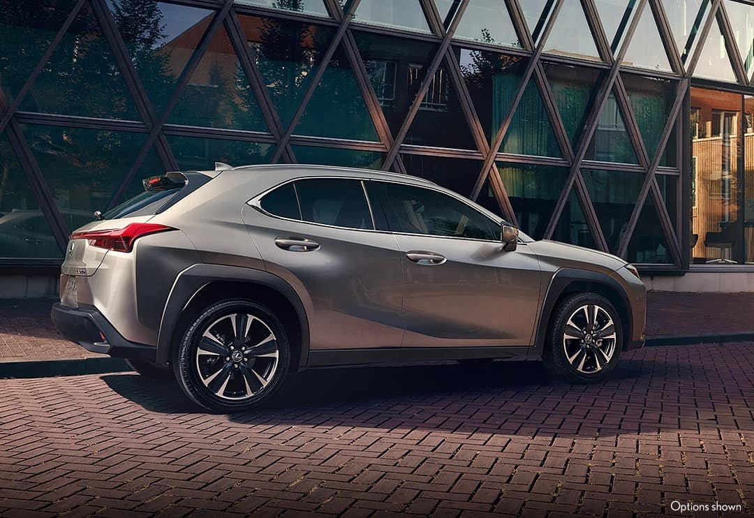 2021 Lexus UX Hybrid driving in the city