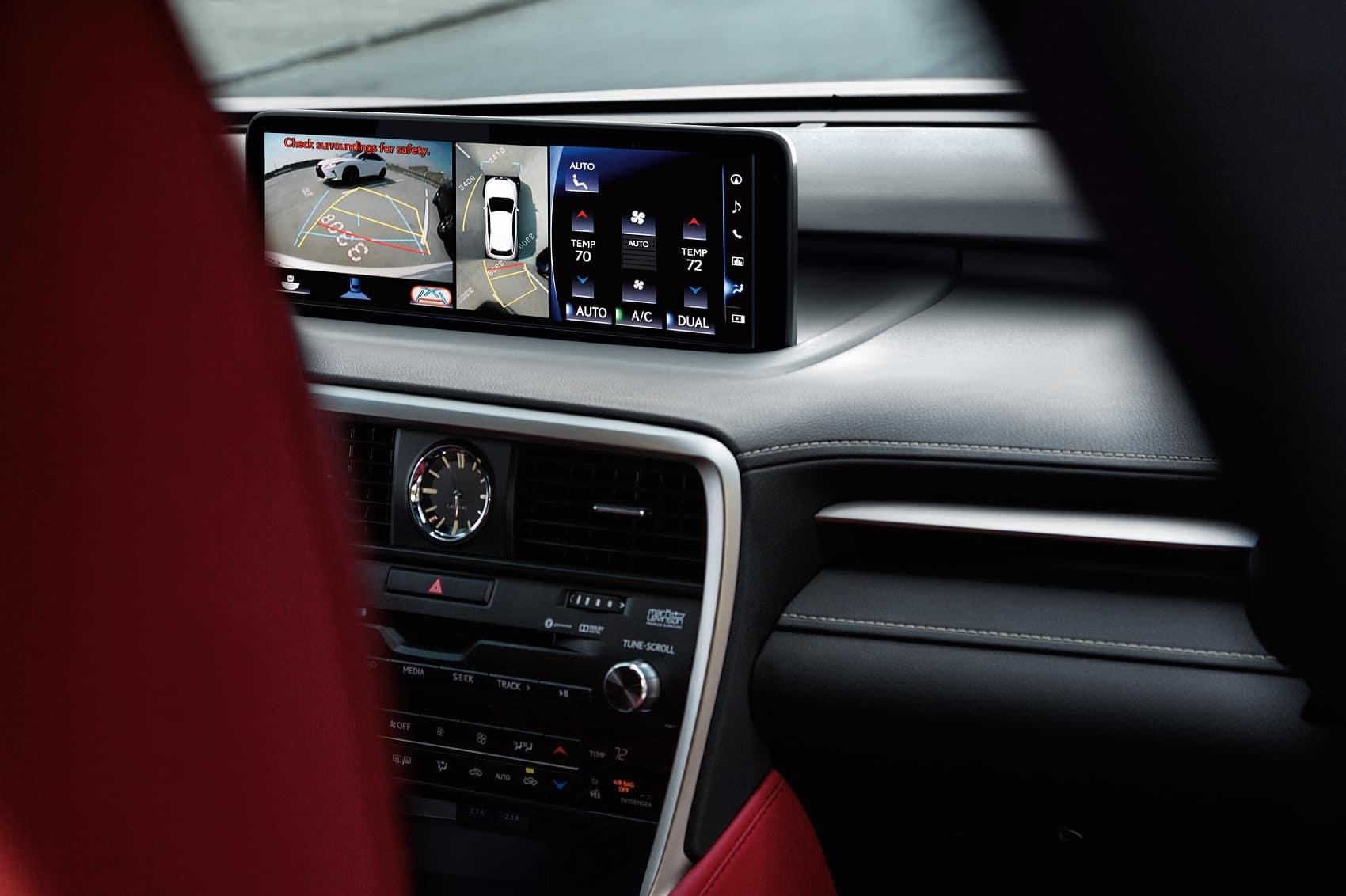 2021 Lexus UX Hybrid top view camera system