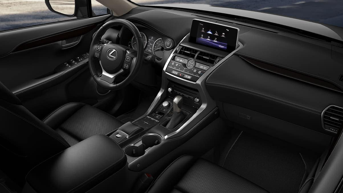 2020 Lexus NX interior front dashboard technology