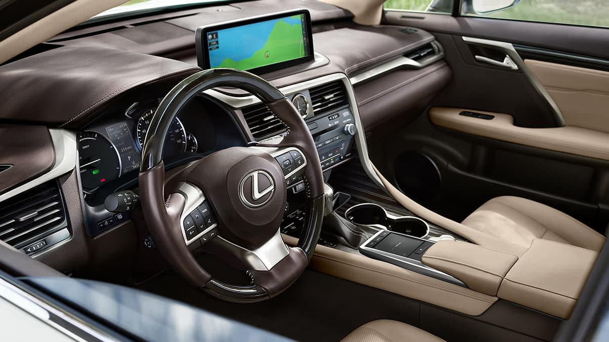 2020 Lexus RX front interior dashboard technology