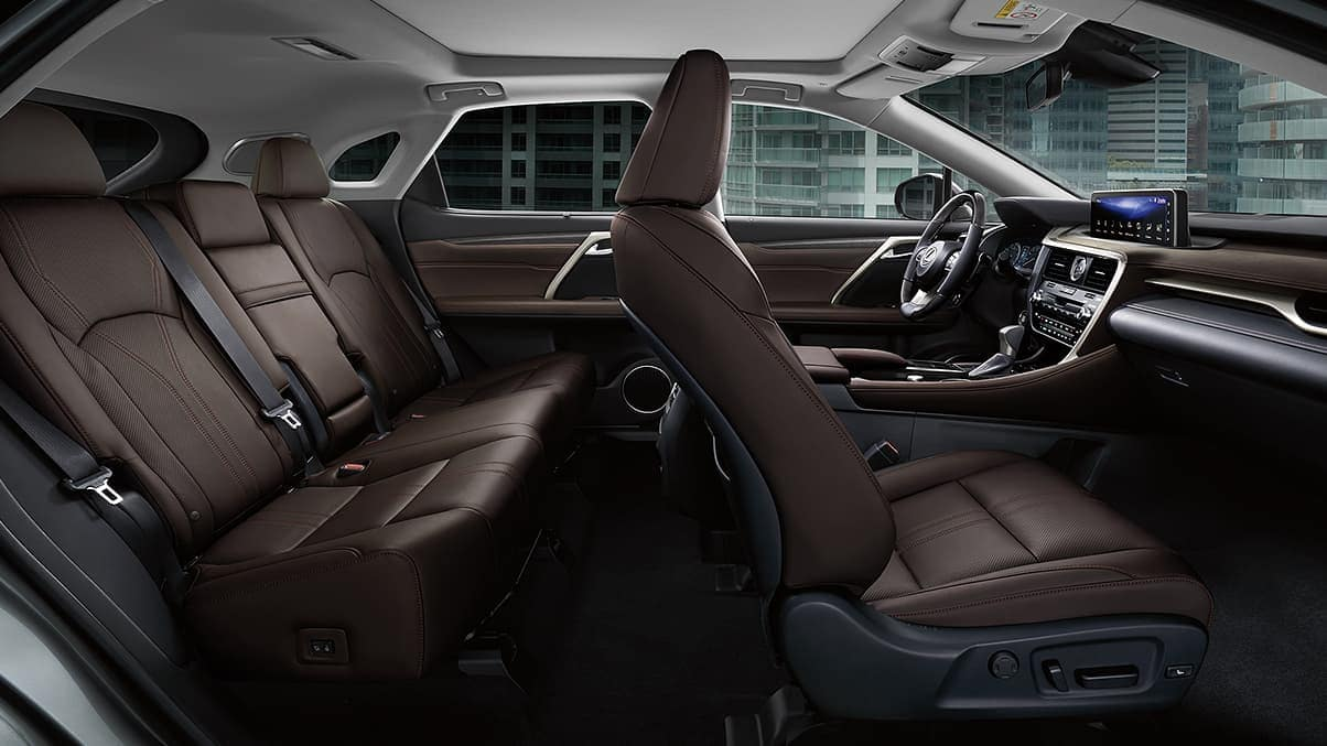 2020 Lexus RX interior in chocolate leather