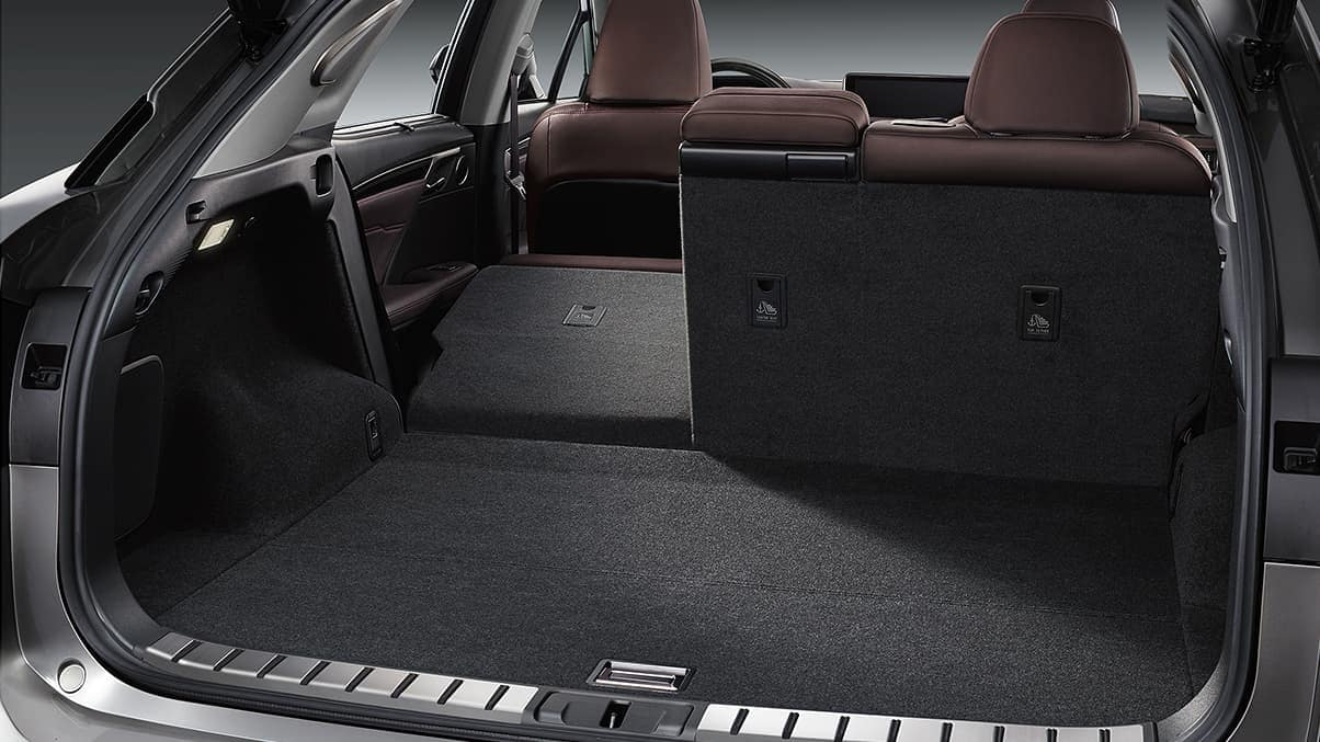 2020 Lexus RX trunk space and passenger volume