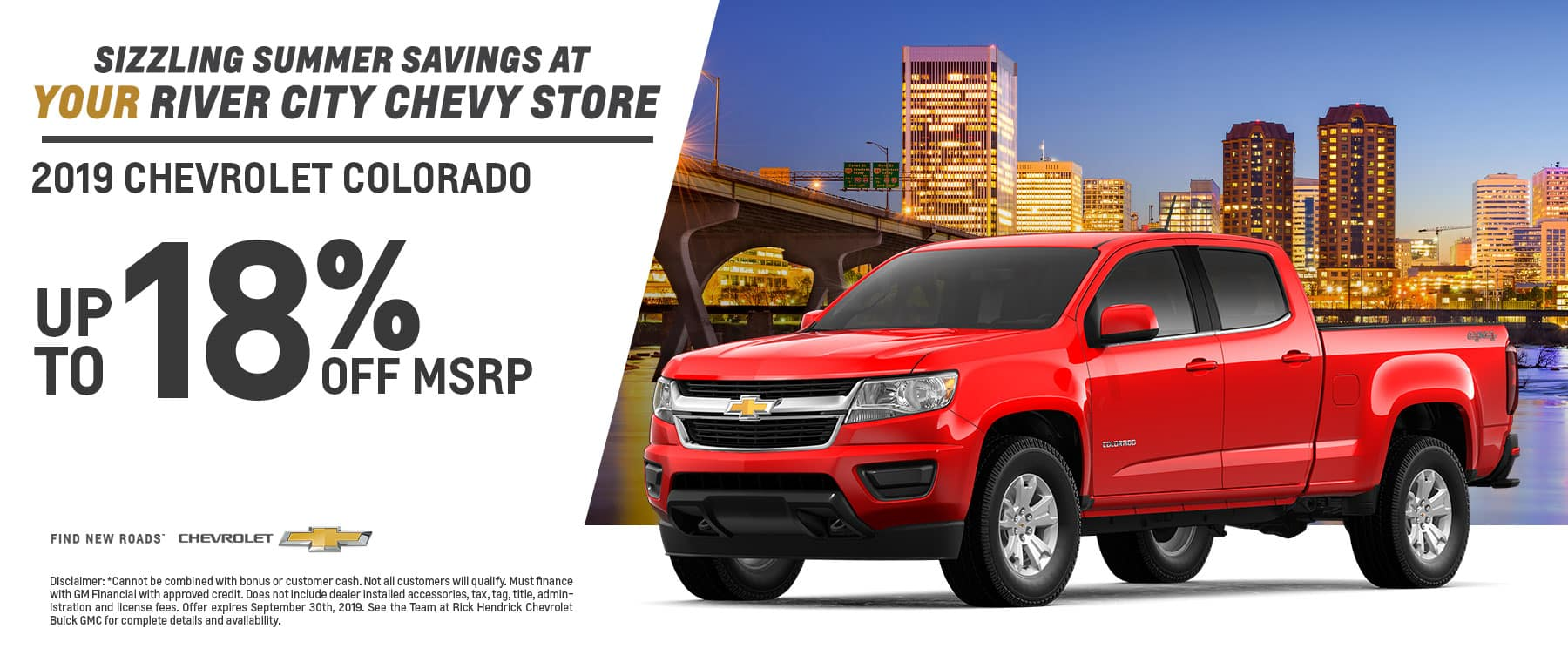 2019 Chevy Colorado up to 18% off MSRP