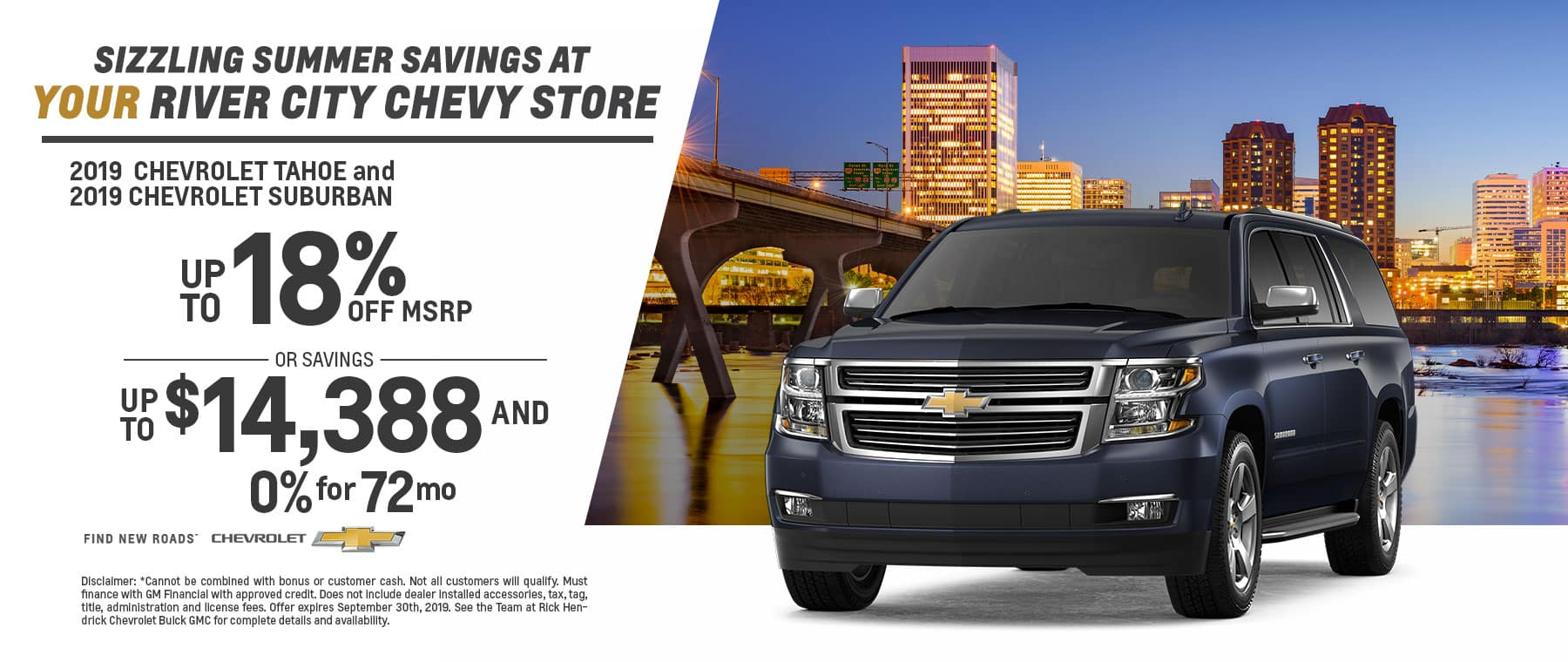 Up to 18% off the Chevy Tahoe
