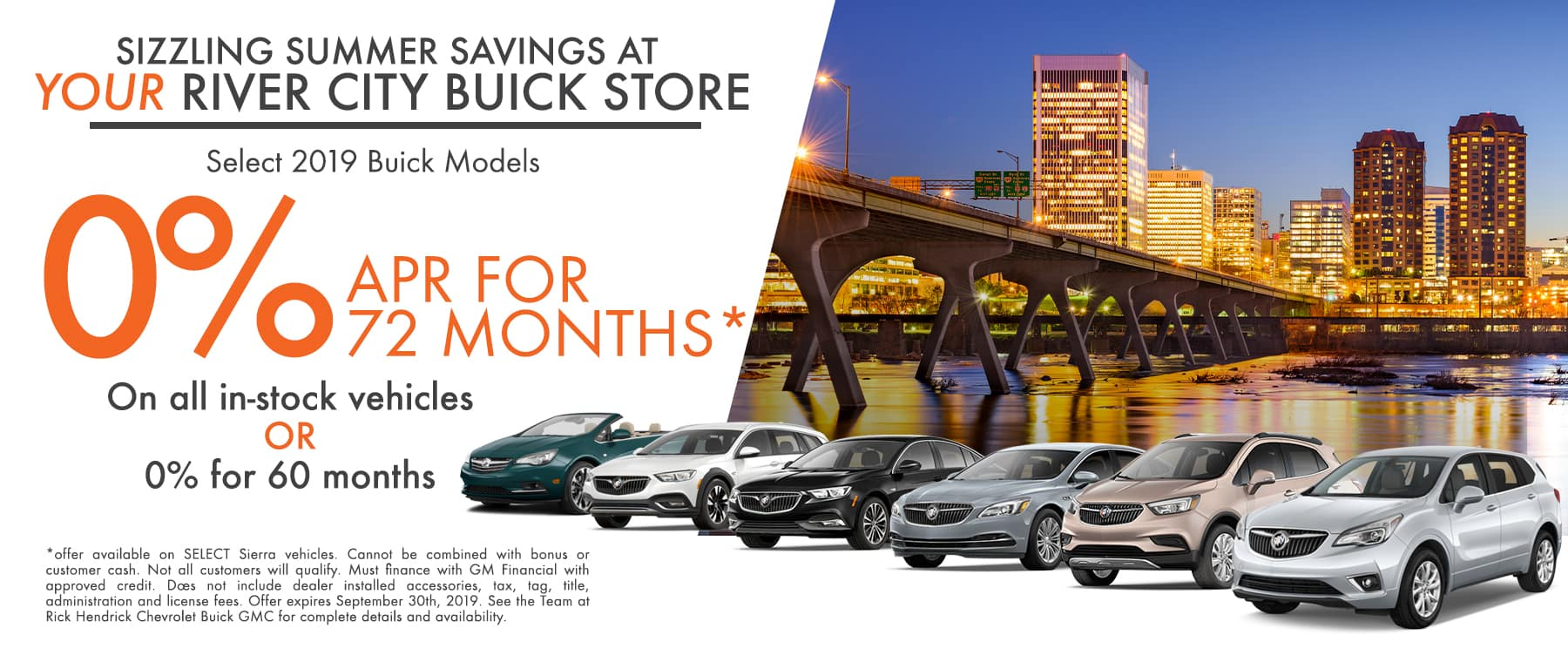 Special Financing for most of the 2019 Buick Models