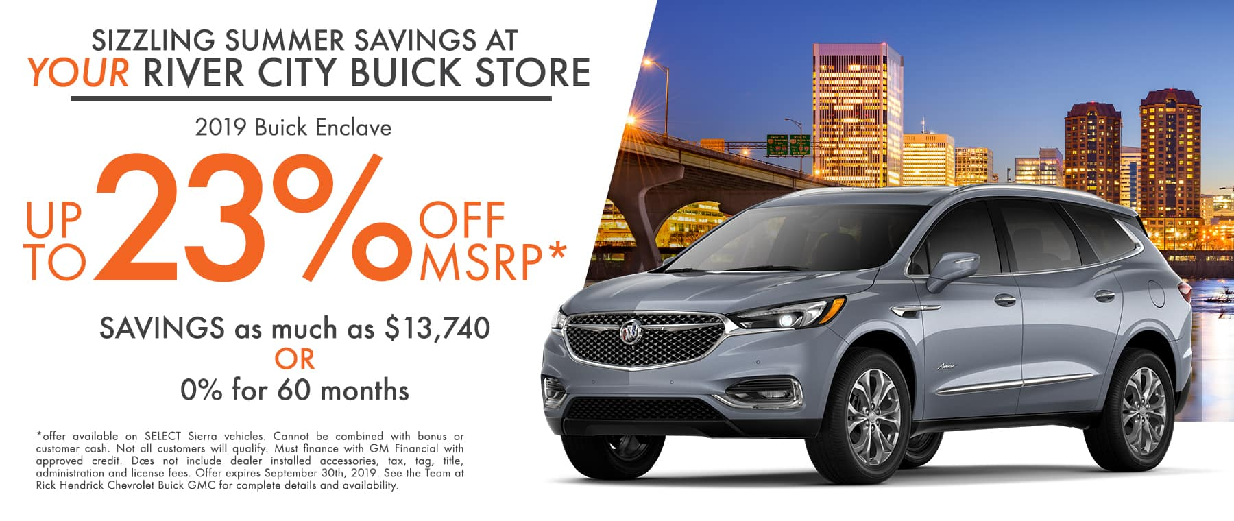 Big savings on the Buick Enclave
