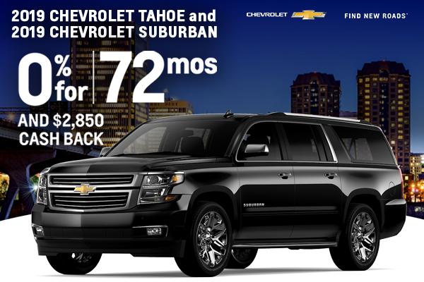 2019 Chevrolet Tahoe and 2019 Chevrolet Suburban