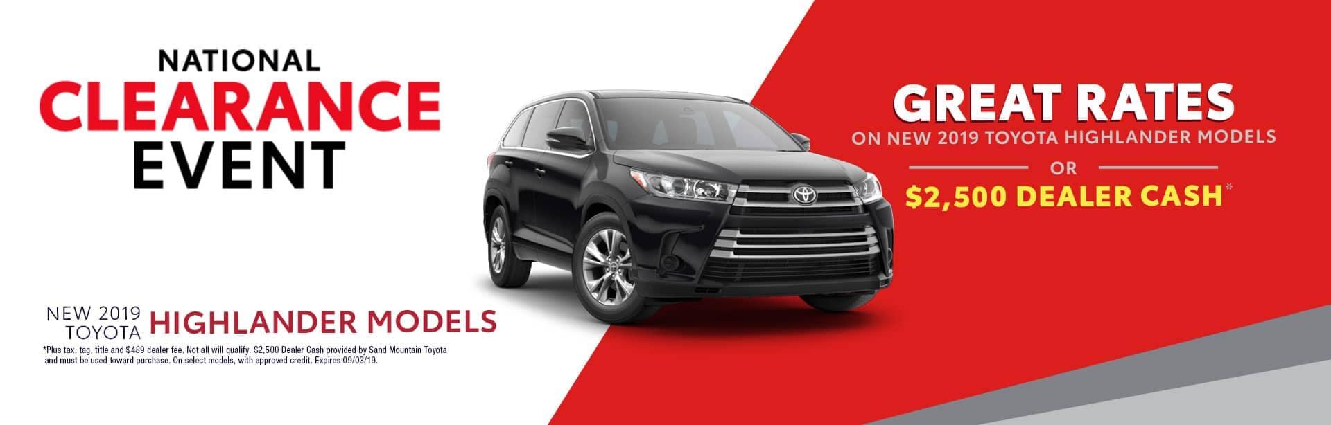 Homepage Aug Offer Toyota Highlander
