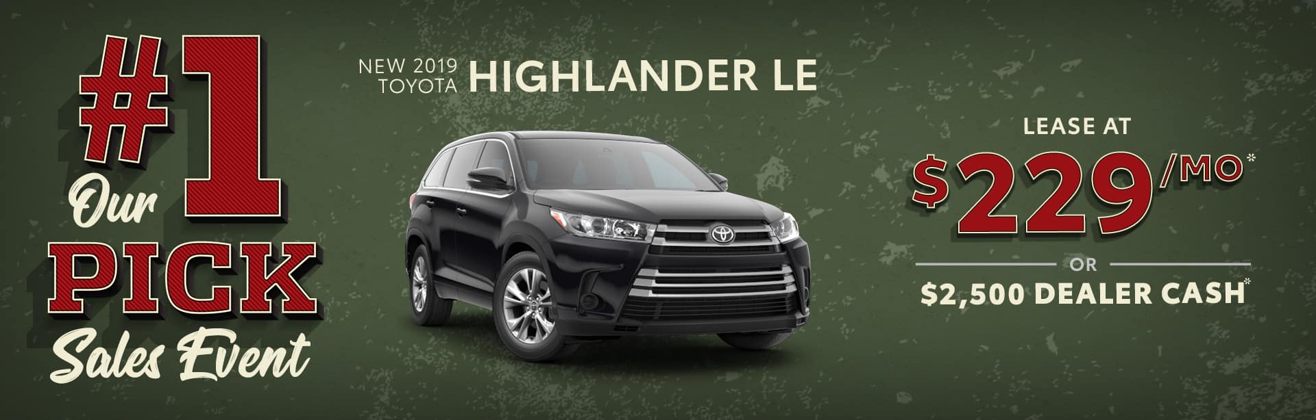New 2019 Toyota Highlander Special at Sand Mountain Toyota
