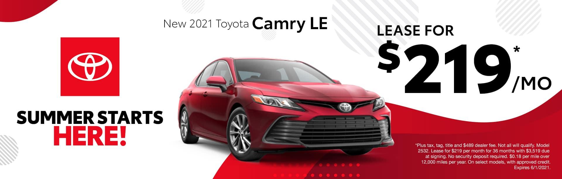 New 2021 Toyota Camry Albertville AL