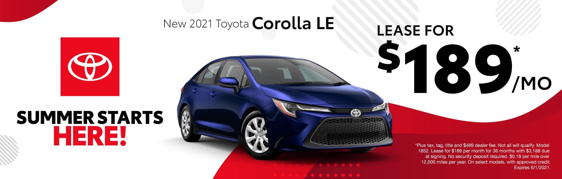 New 2021 Toyota Corolla Albertville AL